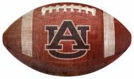 Auburn Tigers Football Shaped Sign
