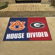 Auburn Tigers/Georgia Bulldogs House Divided Mat