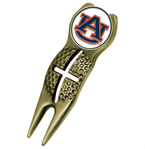 Auburn Tigers Gold Crosshairs Divot Tool