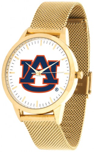 Auburn Tigers Gold Mesh Statement Watch