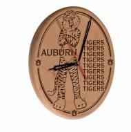 Auburn Tigers Laser Engraved Wood Clock