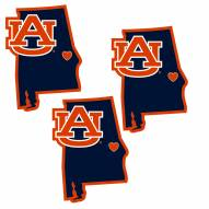 Auburn Tigers Home State Decal - 3 Pack