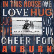 """Auburn Tigers In This House 10"""" x 10"""" Picture Frame"""