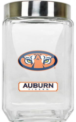 Auburn Tigers Large Glass Canister