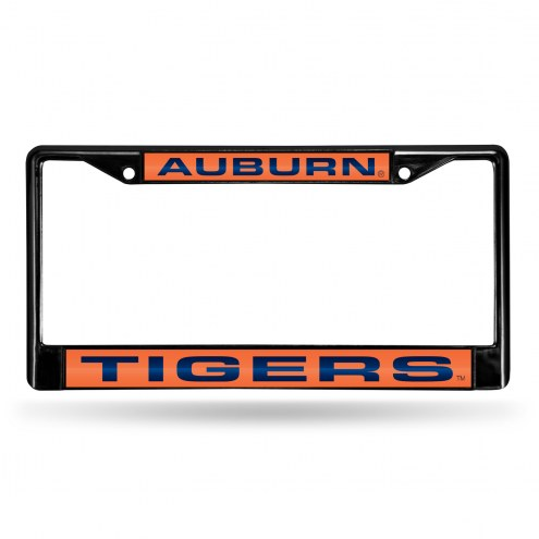 Auburn Tigers Laser Black License Plate Frame
