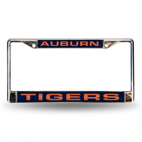 Auburn Tigers Laser Chrome License Plate Frame
