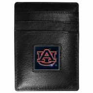Auburn Tigers Leather Money Clip/Cardholder in Gift Box