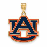 Auburn Tigers Sterling Silver Gold Plated Large Pendant