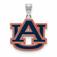 Auburn Tigers Sterling Silver Large Pendant