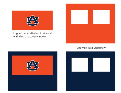 Auburn Tigers Logo Canopy Sidewall Panel (Attaches to Window Sidewall)
