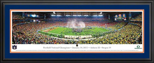 Auburn Tigers National Champion Deluxe Framed Panorama