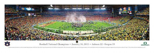 Auburn Tigers 2011 BCS National Champions Unframed Panorama