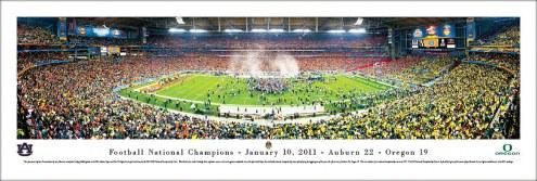 Auburn Tigers 2011 BCS National Champions Unframed Panorama