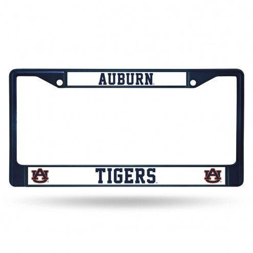 Auburn Tigers Navy Colored Chrome License Plate Frame