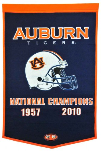 Winning Streak Auburn Tigers NCAA Football Dynasty Banner