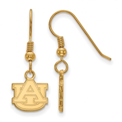 Auburn Tigers NCAA Sterling Silver Gold Plated Extra Small Dangle Earrings
