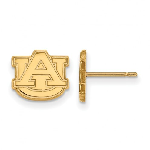 Auburn Tigers NCAA Sterling Silver Gold Plated Extra Small Post Earrings