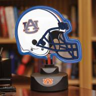Auburn Tigers Neon Helmet Desk Lamp
