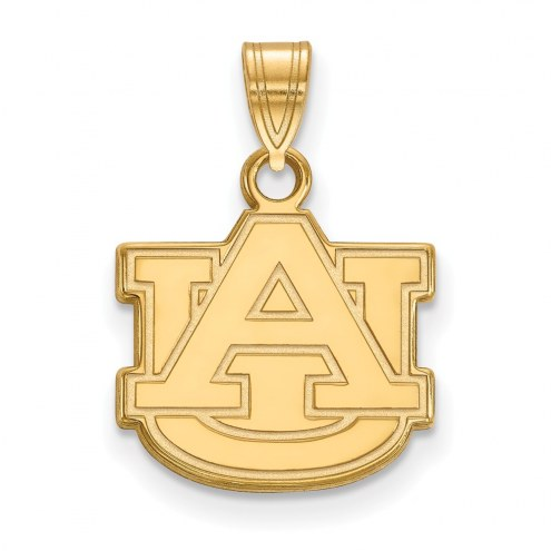 Auburn Tigers NCAA Sterling Silver Gold Plated Small Pendant