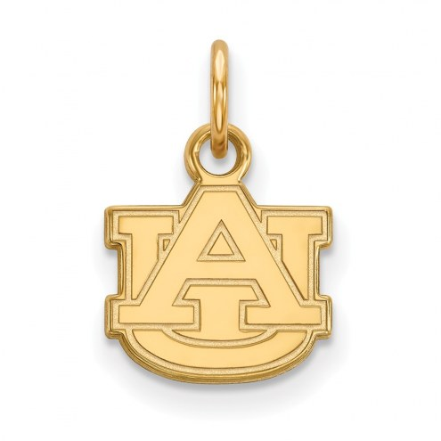 Auburn Tigers NCAA Sterling Silver Gold Plated Extra Small Pendant