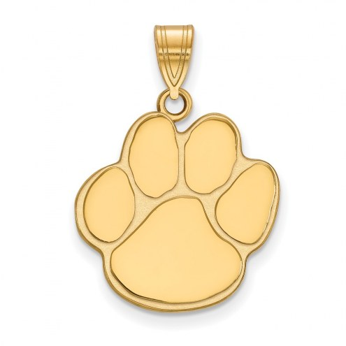 Auburn Tigers NCAA Sterling Silver Gold Plated Large Pendant