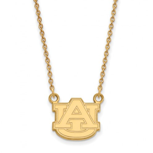 Auburn Tigers NCAA Sterling Silver Gold Plated Small Pendant Necklace