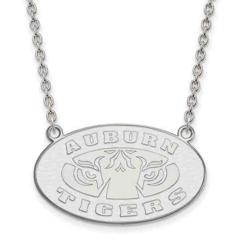 Auburn Tigers NCAA Sterling Silver Large Pendant Necklace
