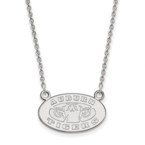 Auburn Tigers NCAA Sterling Silver Small Pendant Necklace