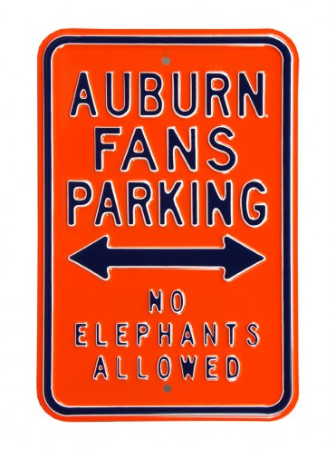 Auburn Tigers No Elephants Parking Sign