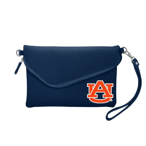Auburn Tigers Pebble Fold Over Purse