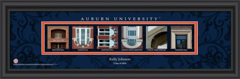 Auburn Tigers Personalized Campus Letter Art