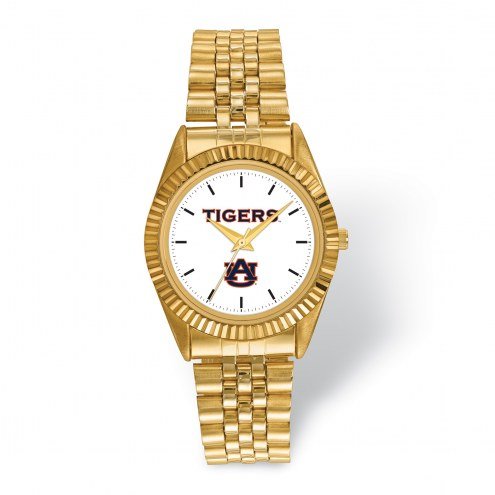 Auburn Tigers Pro Gold Tone Gents Watch