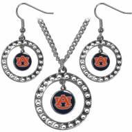 Auburn Tigers Rhinestone Hoop Jewelry Set