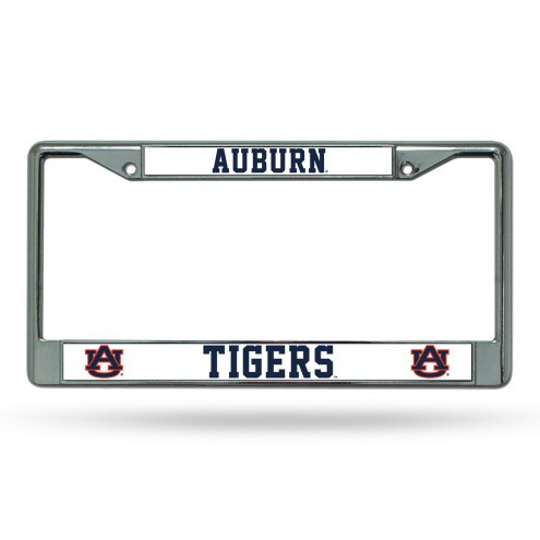 Auburn Tigers Chrome License Plate Frame