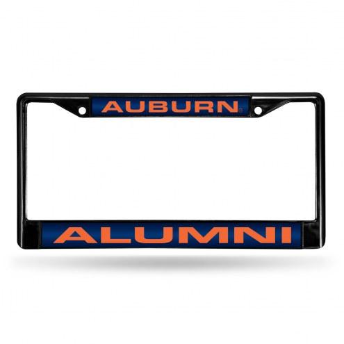 Auburn Tigers Laser Black License Plate Frame