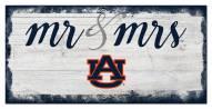 Auburn Tigers Script Mr. & Mrs. Sign