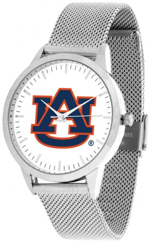 Auburn Tigers Silver Mesh Statement Watch