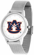 Auburn Tigers Silver Mesh Statement Watch