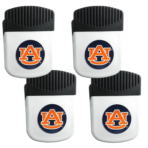 Auburn Tigers 4 Pack Chip Clip Magnet with Bottle Opener