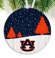 Auburn Tigers Snow Scene Ornament