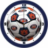 Auburn Tigers Soccer Wall Clock