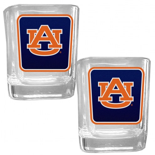 Auburn Tigers Square Glass Shot Glass Set