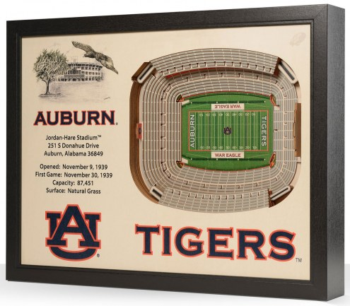 Auburn Tigers 25-Layer StadiumViews 3D Wall Art