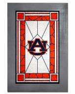 Auburn Tigers Stained Glass with Frame