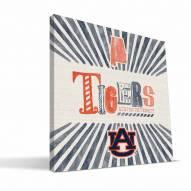 Auburn Tigers State Canvas Print