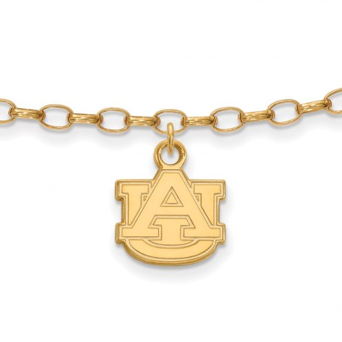Auburn Tigers Sterling Silver Anklet