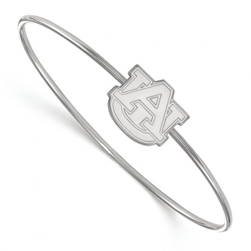 Auburn Tigers Sterling Silver Bangle Slip on Bracelet