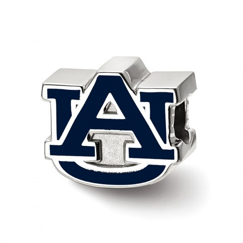 Auburn Tigers Sterling Silver Enameled Bead