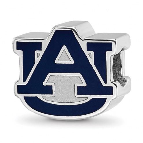 Auburn Tigers Sterling Silver Enameled Bead