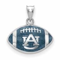 Auburn Tigers Sterling Silver Enameled Football Pendant